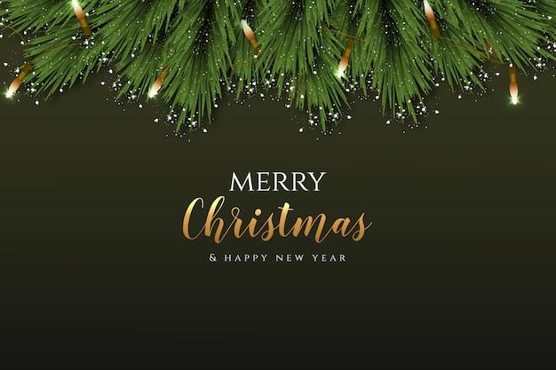 Eleganckie dekoracje świąteczne realistyczne gałęzie wektor