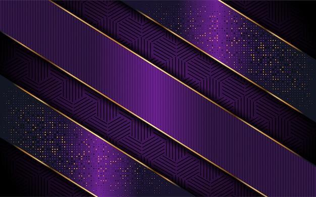 Eleganckie fioletowe tło z luksusowym kształtem linii