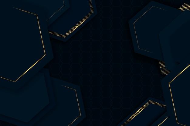 Eleganckie geometryczne kształty tapety realistyczny design