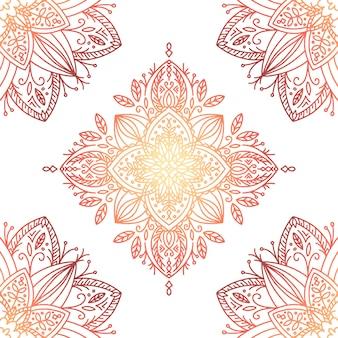 Eleganckie i ciepłe tło gradientowe mandali