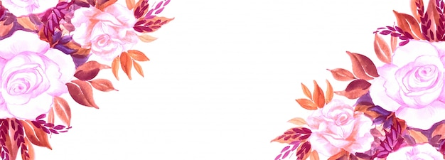 Eleganckie kwiaty kreatywnych transparent tło