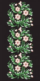 Eleganckie kwiaty ornament ilustracja