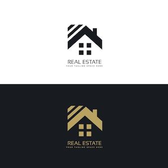 Eleganckie logo branży nieruchomości