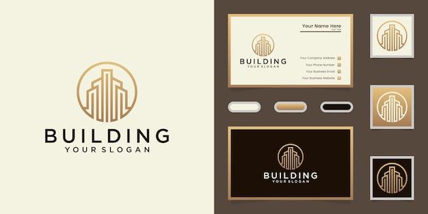 Eleganckie logo i projekt wizytówki