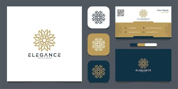 Eleganckie logo i wizytówki premium wektor