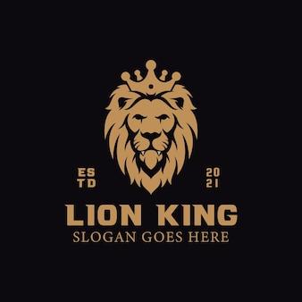 Eleganckie Logo Króla Lwa Premium Wektorów