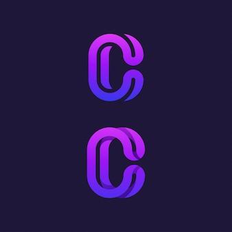 Eleganckie logo litera c nowoczesne