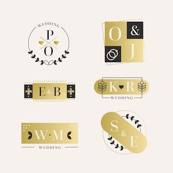 Eleganckie logo monogramy ślubne