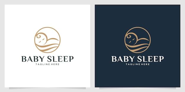 Eleganckie logo śpi dziecka