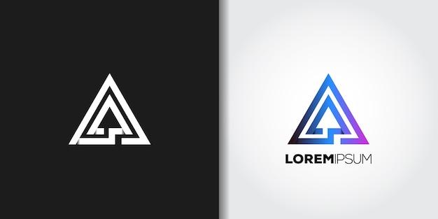 Eleganckie logo w geometrycznym trójkącie