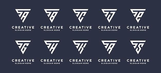 Eleganckie logo w kształcie litery s z początkowym logo s w stylu trójkąta.