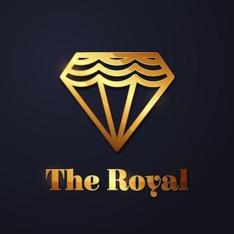 Eleganckie logo w romby