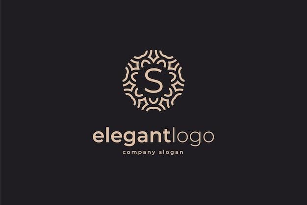 Eleganckie logo z monogramem