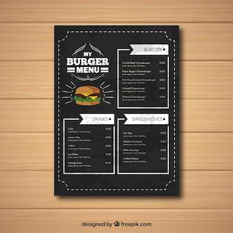 Eleganckie menu ciężarówek żywności z rocznika stylu