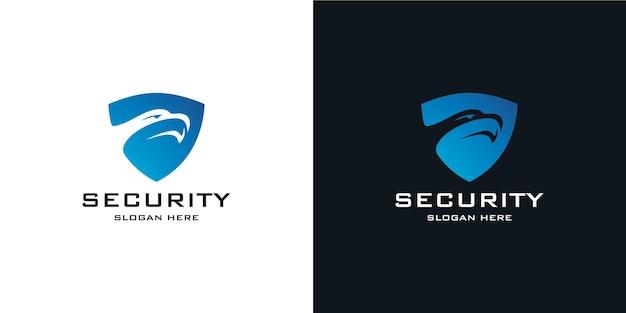 Eleganckie minimalistyczne logo tarczy w stylu tech