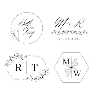 Eleganckie monogramy ślubne