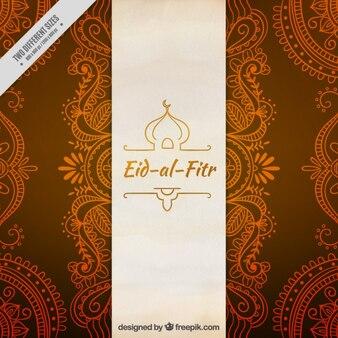 Eleganckie ozdobne eid-al-fitr tle