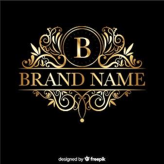 Eleganckie ozdobne logo retro