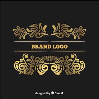 Eleganckie ozdobne logo vintage