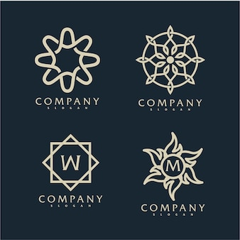 Eleganckie ozdobne logo z nazwą firmy