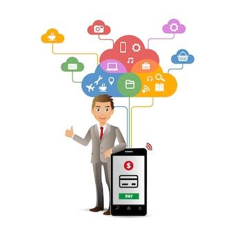 Eleganckie płatności people-mobil