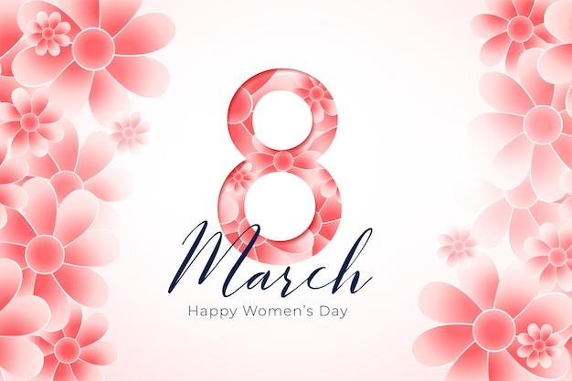 Eleganckie powitanie dnia kobiet kwitnącymi kwiatami
