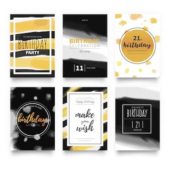 Eleganckie szablony kart urodziny zaproszenie