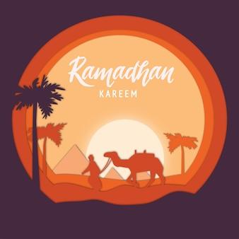 Eleganckie tło dekoracyjne festiwalu ramadan kareem