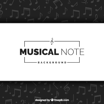 Eleganckie tło notatek muzycznych
