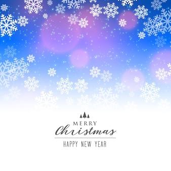 Eleganckie tło płatki śniegu na świąteczny sezon wakacyjny