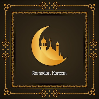 Eleganckie tło ramadan kareem z półksiężycem