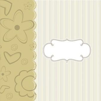 Eleganckie tło szablonu z paskami i kwiatów