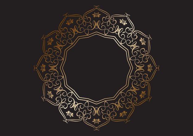 Eleganckie tło z dekoracyjną złotą ramą