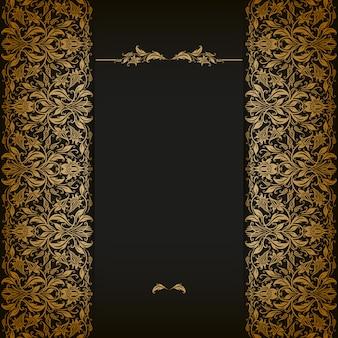 Eleganckie tło z ornamentem koronki