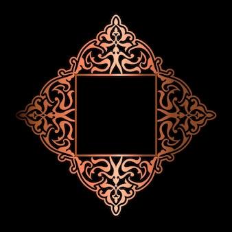 Eleganckie tło z ozdobną złotą ramą
