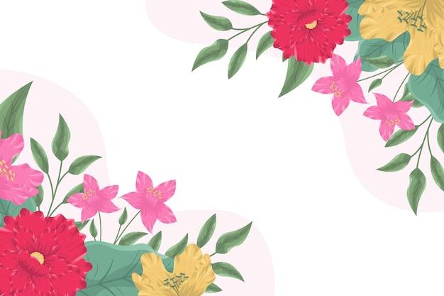Eleganckie tło z rozkwitającymi kwiatami