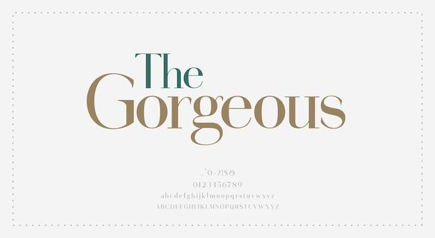Eleganckie wesele alfabet litery czcionki typografia luksusowe klasyczne czcionki szeryfowe dekoracyjne vintage retro