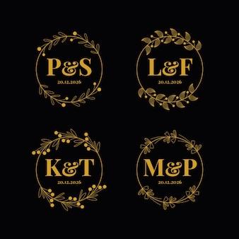 Eleganckie wesele monogramy