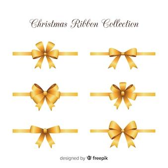 Eleganckie wstążki świąteczne o realistycznym designie