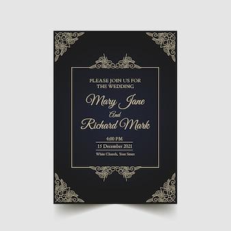 Eleganckie zapisać datę ślubu zaproszenia