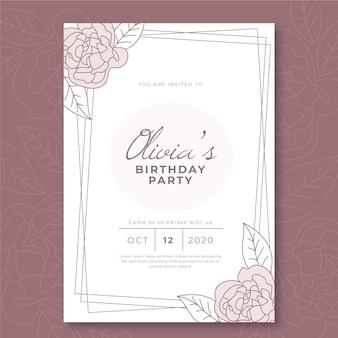 Eleganckie zaproszenie na kartę urodzinową