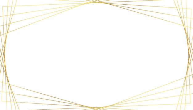 Eleganckie złote geometryczne linie na białym tle