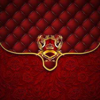Eleganckie złote ramki banner