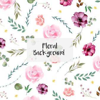 Elegancko zaprojektowany piękny kwiatowy wzór karty ślubu