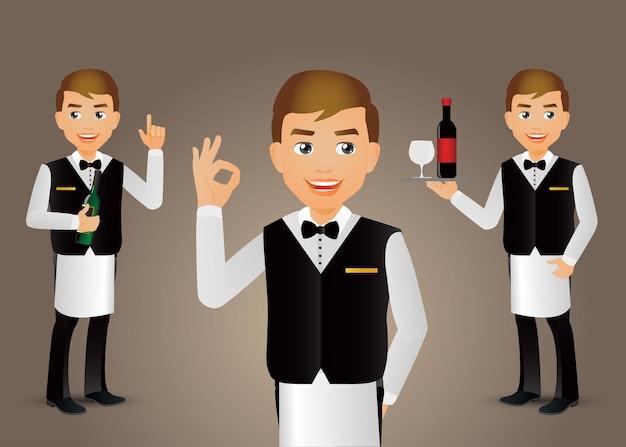 Elegant peopleprofesjonalny kelner