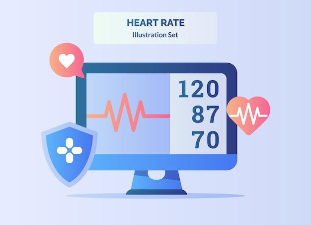 Elektrokardiogram monitora rytmu serca