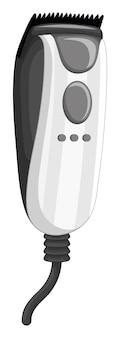 Elektroniczna maszynka do golenia na białym tle