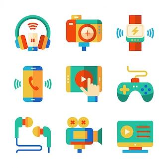 Elektroniczna płaska ikona