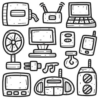 Elektroniczne narzędzie kawaii kreskówka doodle ilustracja