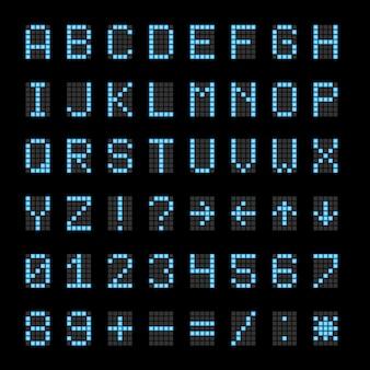Elektroniczne znaki cyfrowe na tablicy wyników